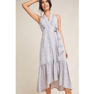 NWT Anthropologie Marfa Wrap Dress Grey Motif 8